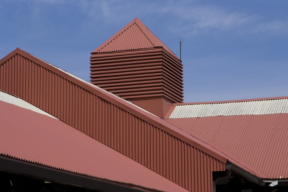 metal roof example in a commercial application
